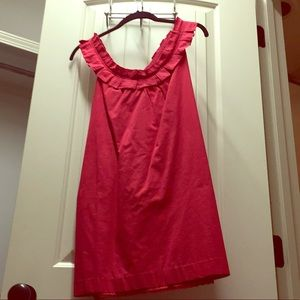 Anthropologie Red Sundress